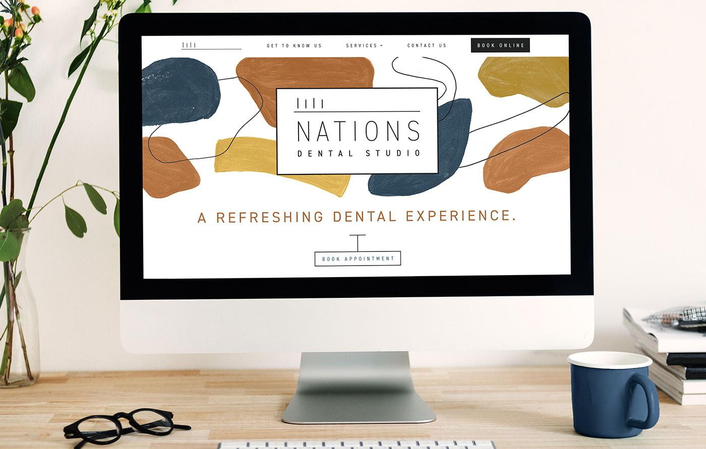 Minimalist UI Design for Nations Dental Studio