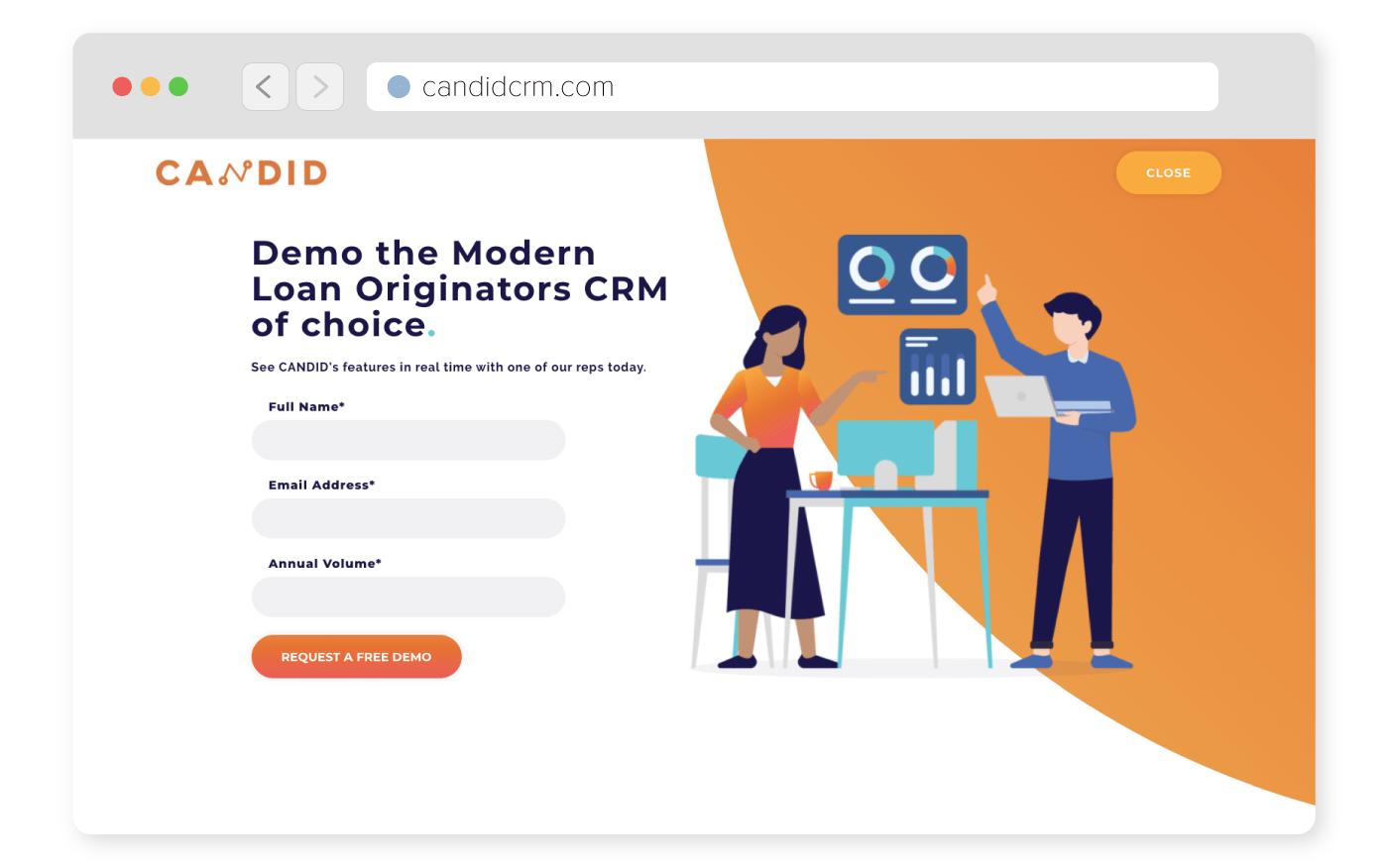 Candid CRM WordPress form